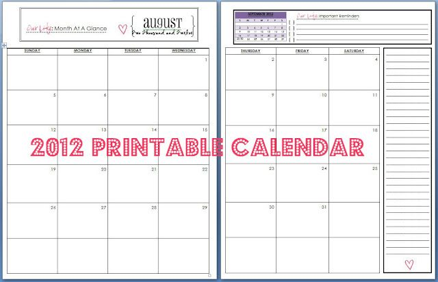 printable calendar pages to make your own Crafts Pinterest