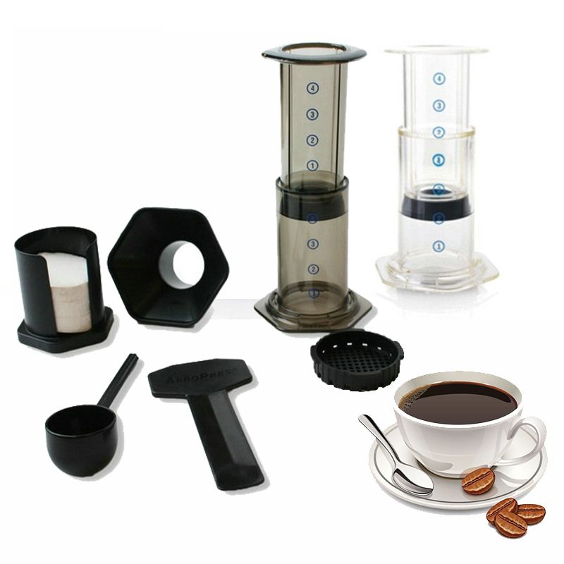 Portable Coffee Maker French Press Air Espresso Machine Reusable Stainless Steel Filter And 350 Paper Affiliate