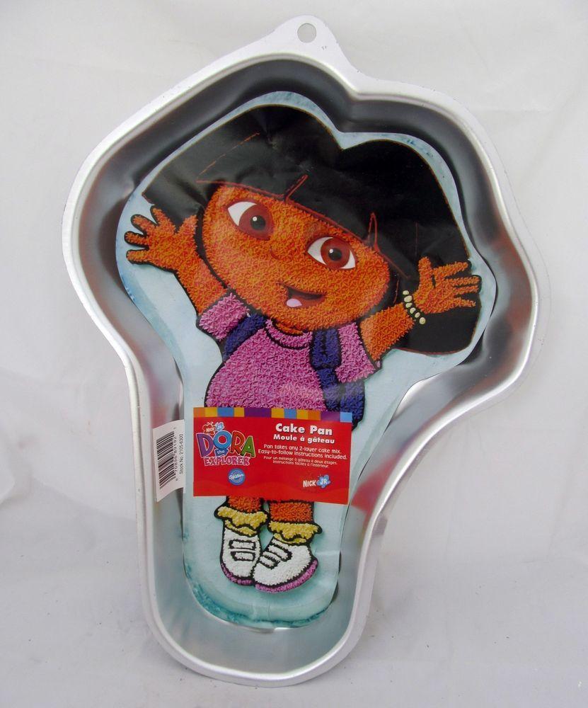 Dora The Explorer Cake Decorating Kit : Wilton Dora the Explorer Spanish Vtg Metal Cake Pan ...