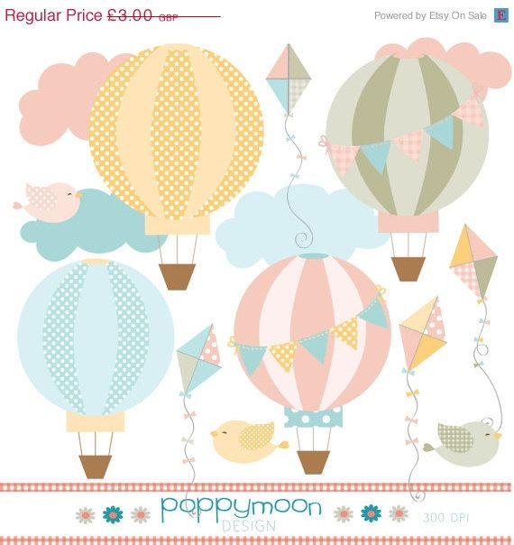 50 off sale hot air balloon and kite pastel pink yellow blue and summer sale hot air balloon and kite pastel pink yellow blue and green clipart voltagebd Images