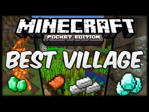 0 10 4 Best Village Seed Diamonds Emeralds And Iron Minecraft Pocket Edition Minecraft Pocket Edition Minecraft Seeds Pocket Edition Pocket Edition