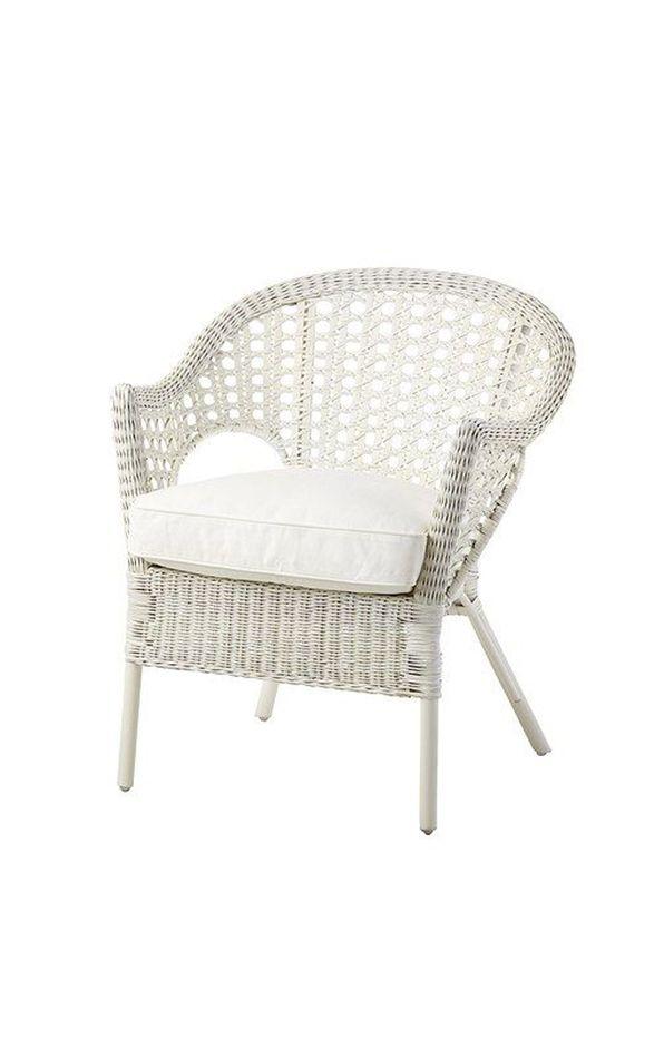 djupvik fauteuil avec coussin blanc