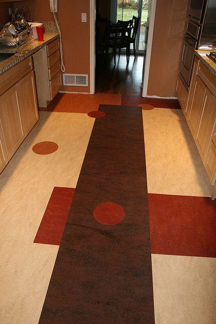 geometric marmoleum  best flooring for kitchen kitchen