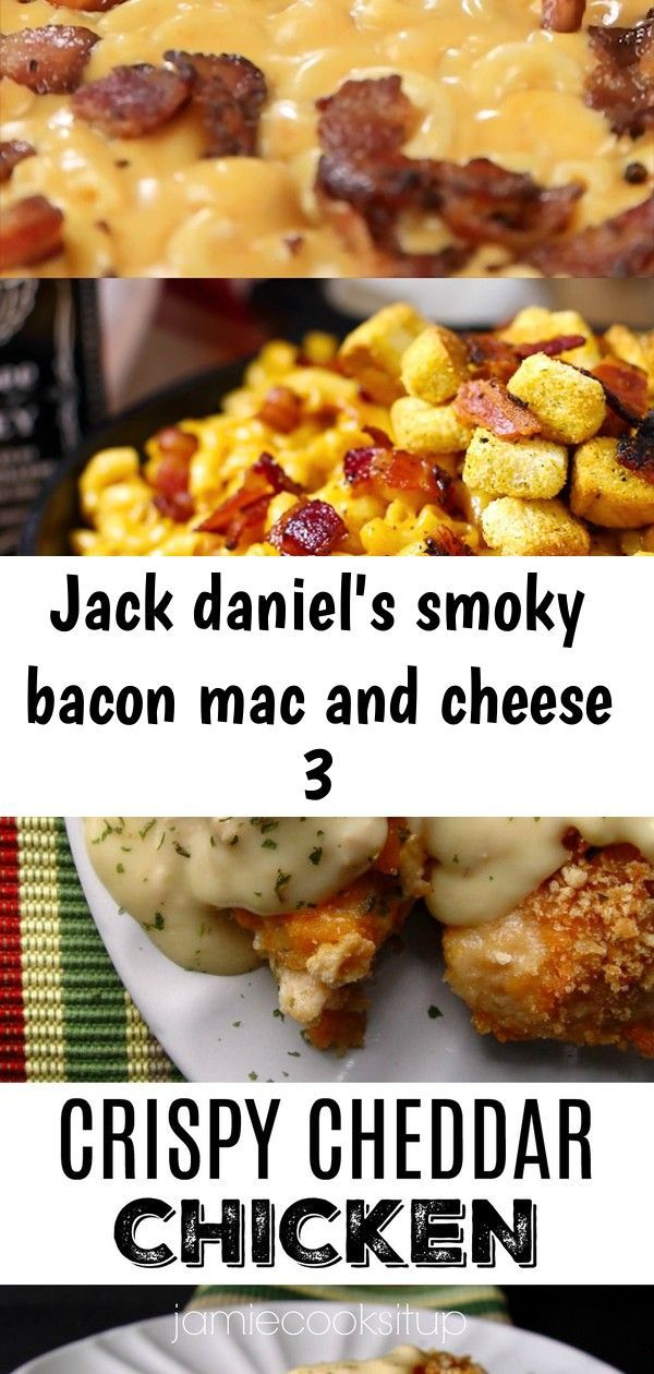 Jack daniel's smoky bacon mac and cheese 3 #crispycheddarchicken Jack Daniel's Mac and Cheese recipe loaded with hickory smoked peppered bacon, tons of ooey gooey smoky cheese and a selection of spices to wake up all your senses. This is the mac and cheese of your dreams. #MacAndCheese #JackDaniels #Bacon Crispy Cheddar Chicken from Jamie Cooks It Up! This is one of the most popular recipes on my site and for good reason! Super easy, super delicious! #crispychicken, #chickendinner, #bestchickenr #crispycheddarchicken