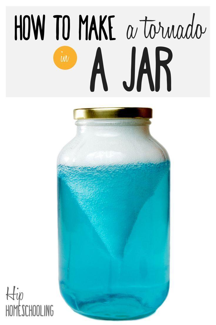 How To Make A Tornado In A Jar Fun Science For Kids Homeschool