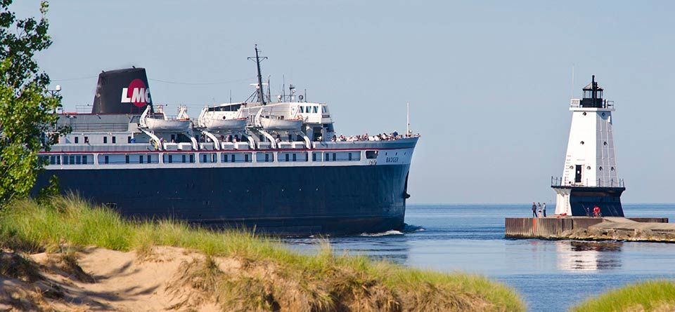ss badger lake michigan car ferry manitowoc wi ludington mi rh pinterest com