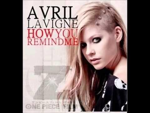 Nueva Cancion De Avril Lavigne Cover De Nickelback Para One Piece Z La Nueva Pelicula Anime Avril Lavigne How You Remind Me Nickelback