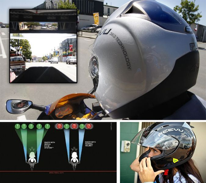 Reevu Rv Msx1 The Rear View Mirror Motorcycle Helmet