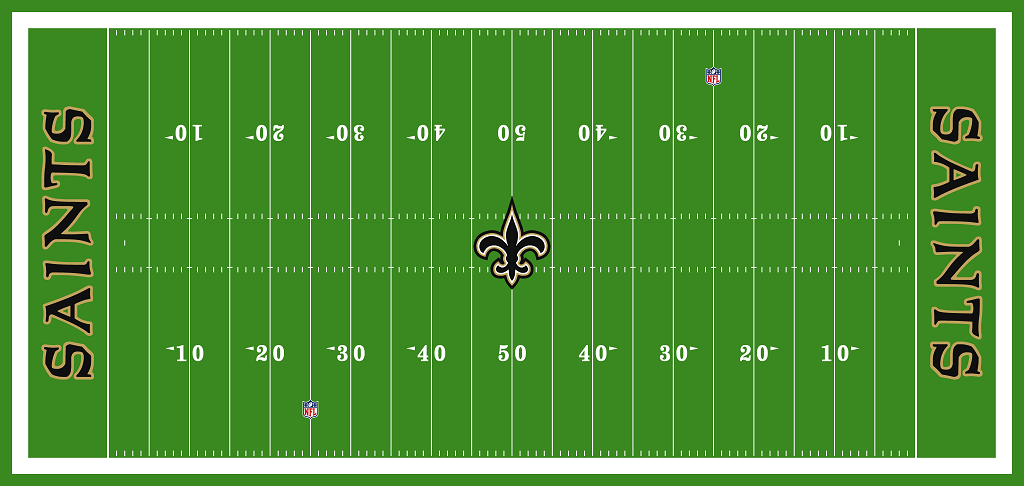Pin By Chris Basten On Football Fields Football Field New Orleans Saints Football