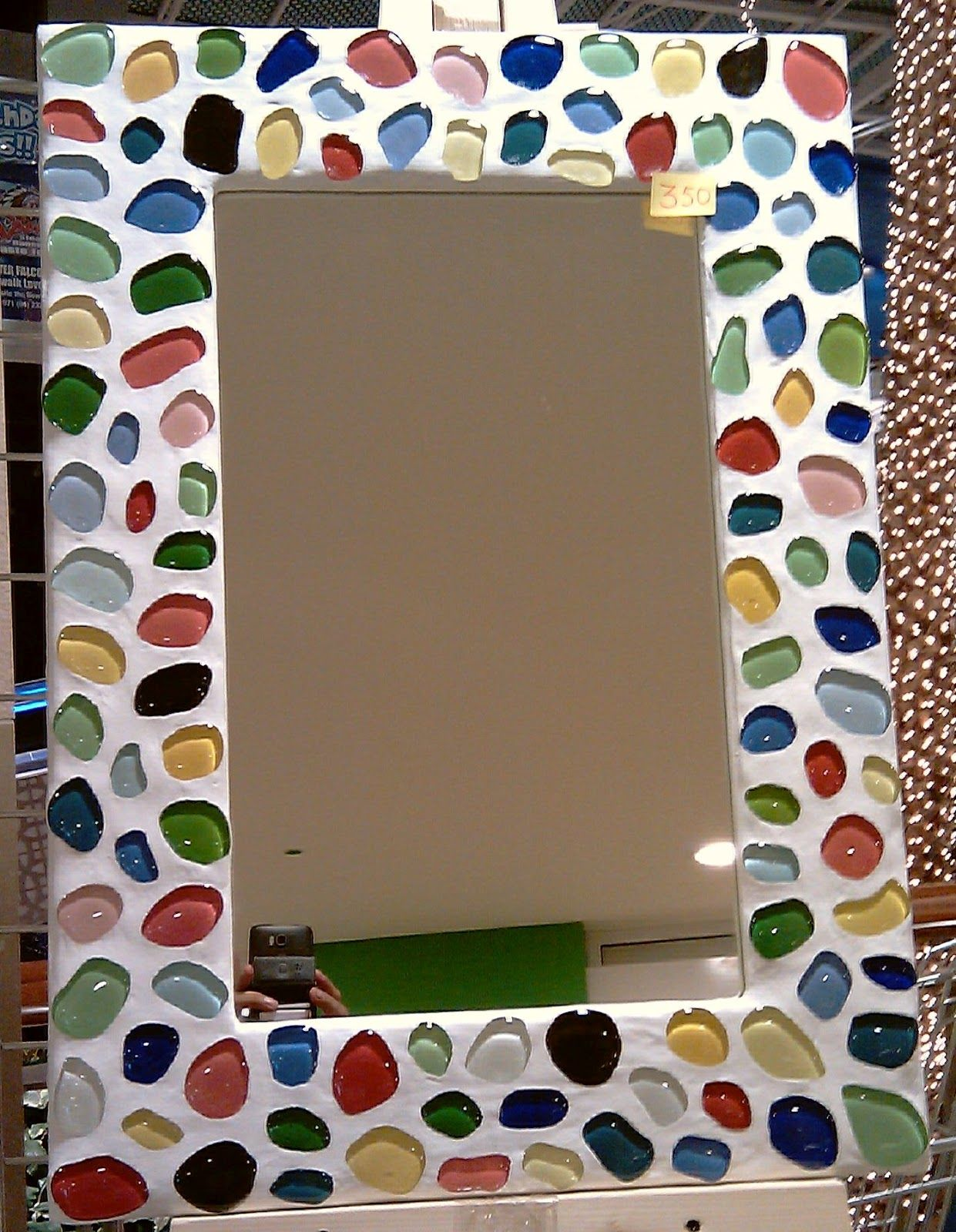 creative arts dubai cad wall mirror photo frames decorated with glass mosaic - Decorated Mirror