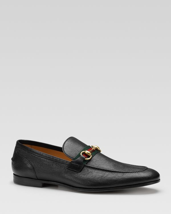 3961c969df5 Gucci Elanor Harness Over Web Loafers