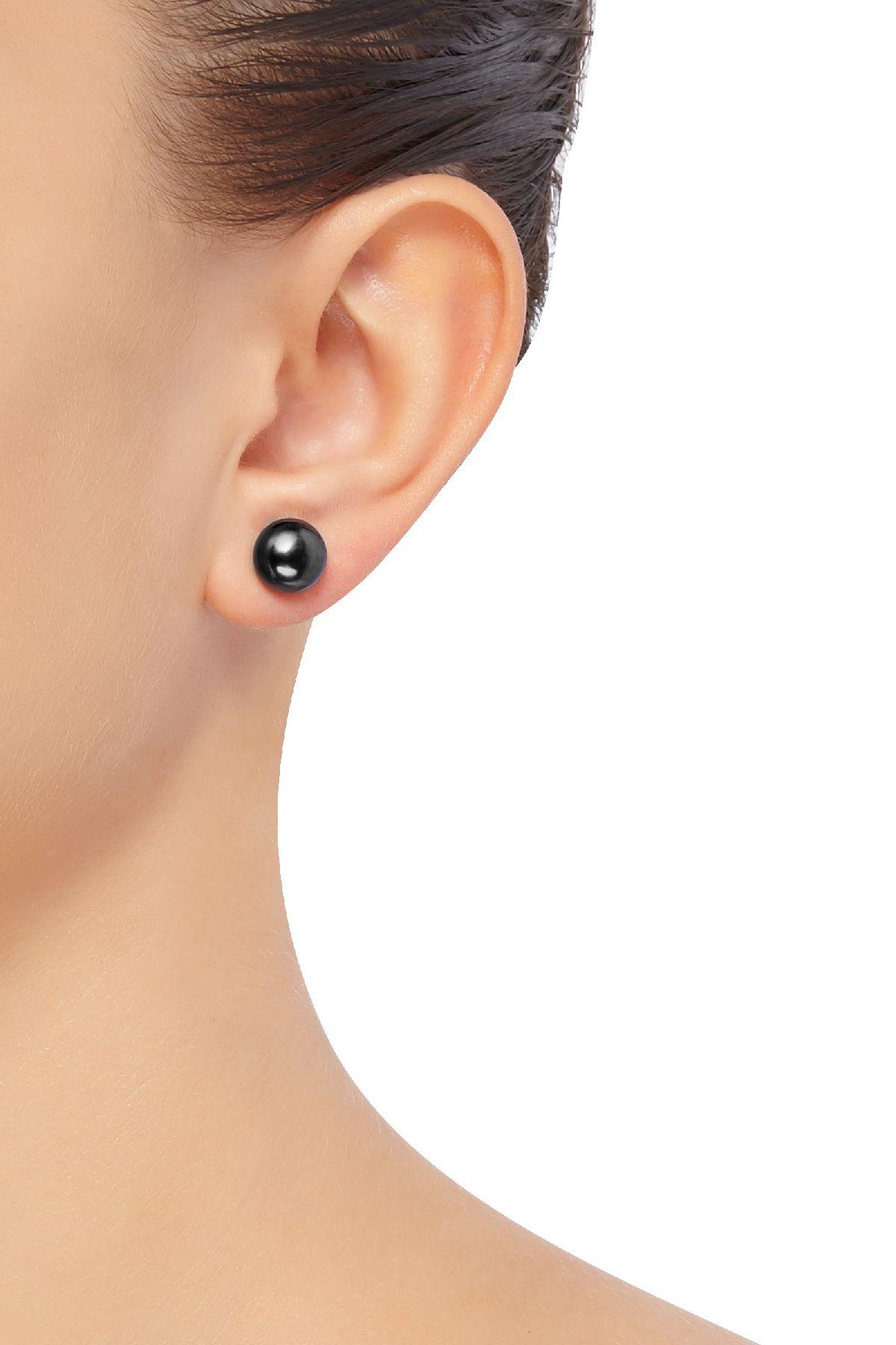 Honora 9 10 Mm Black Freshwater Pearl Stud Earrings In Sterling Silver 9 10 Mm Black Pearl Stud Ea Freshwater Pearl Studs Black Freshwater Pearls Pearl Studs