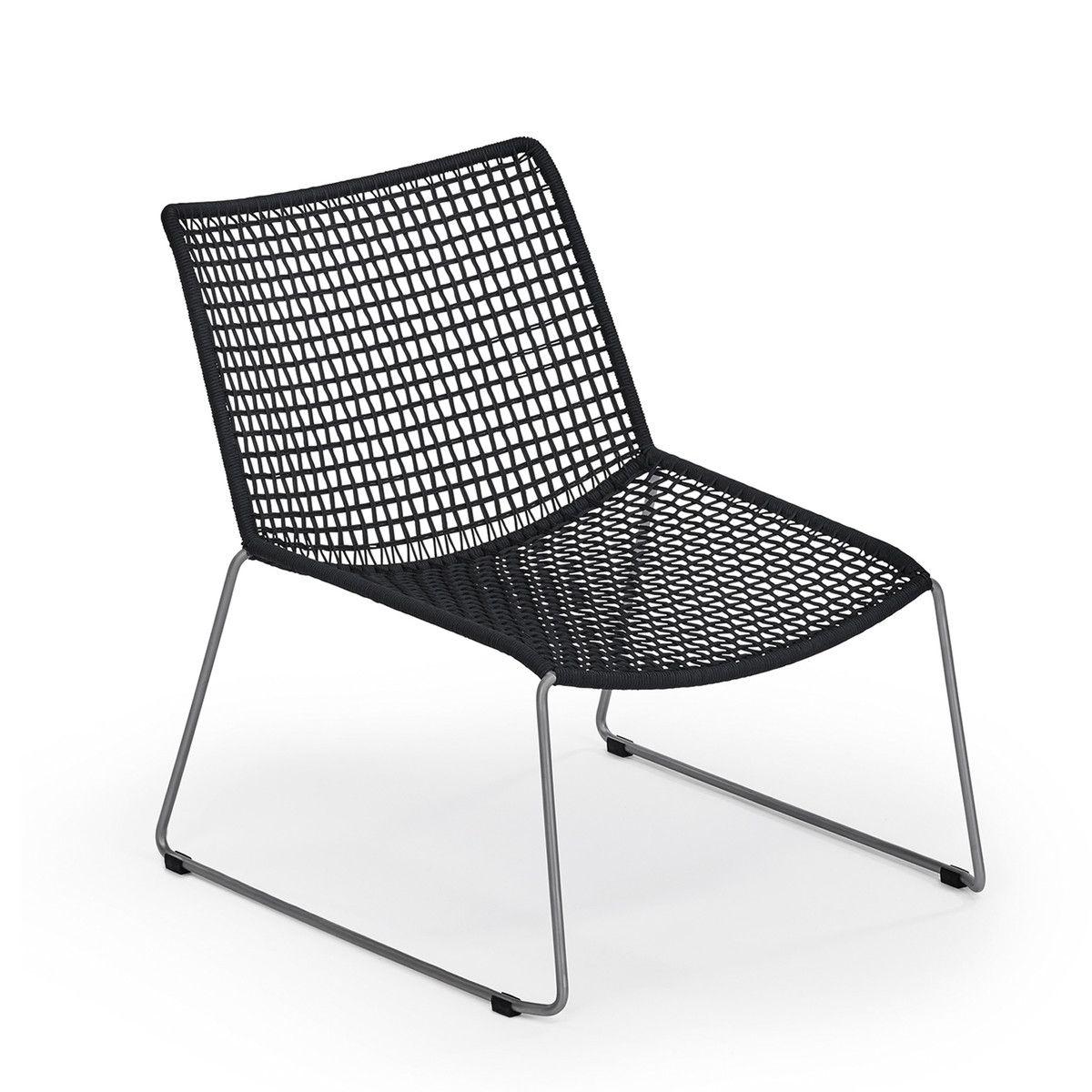 Lounge stuhl garten  Weishäupl - Slope Lounge Sessel, schwarz | Lounge sessel, Sessel ...
