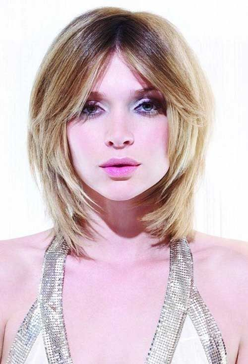 Layered Bangs For Round Face Short Hairstyles Hair