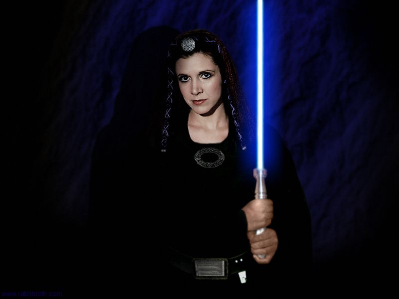 star wars princess leia lightsaber