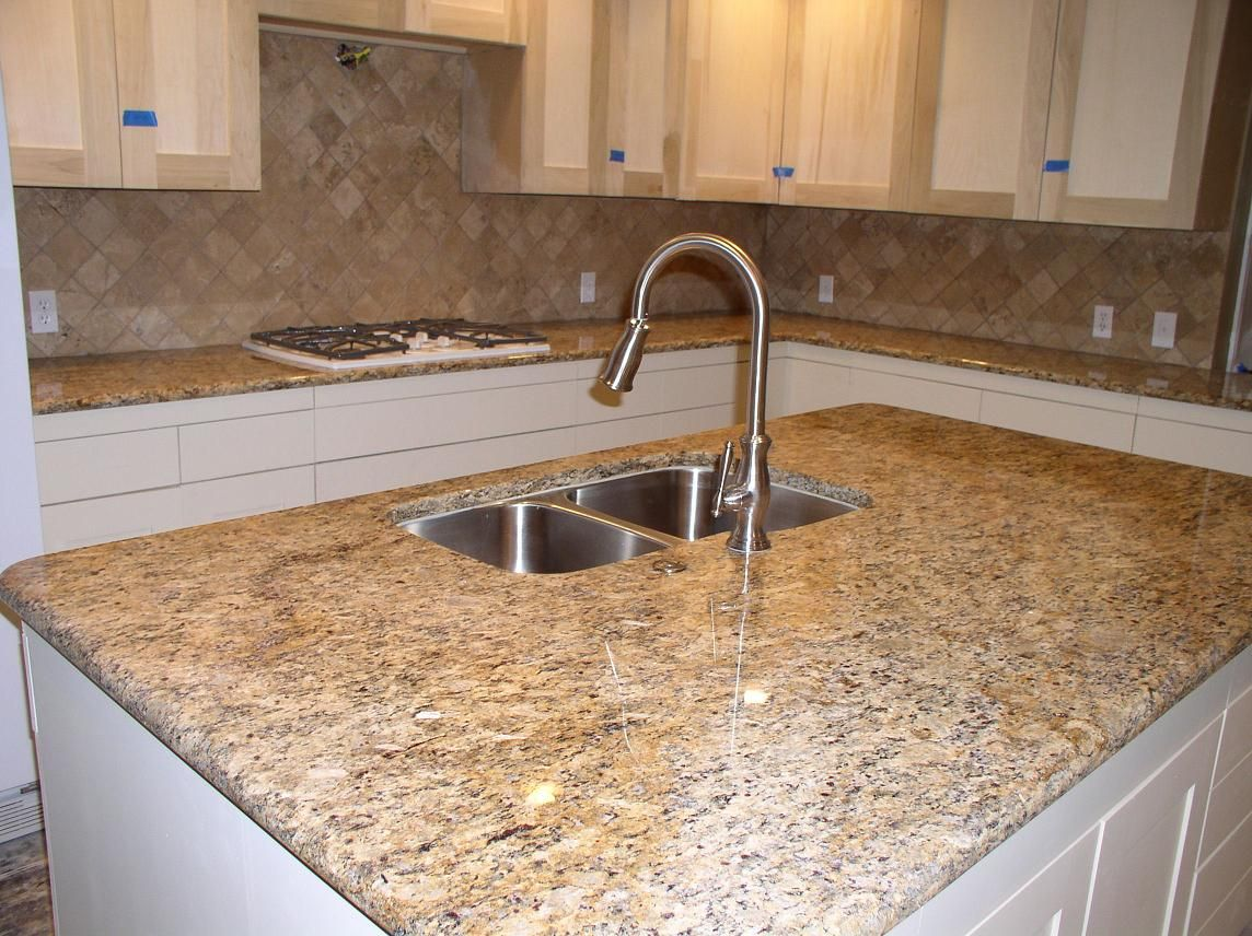 Granite Edges Countertops Replacing Closet Doors Santa Cecilia Kitchen Pantry