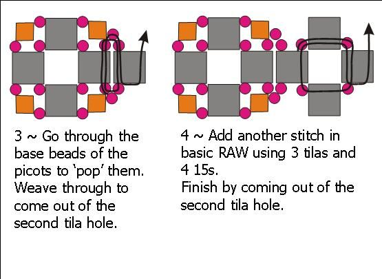 Image detail for -The Beaded Carpet: Crystal Corners Tila Bead stitch
