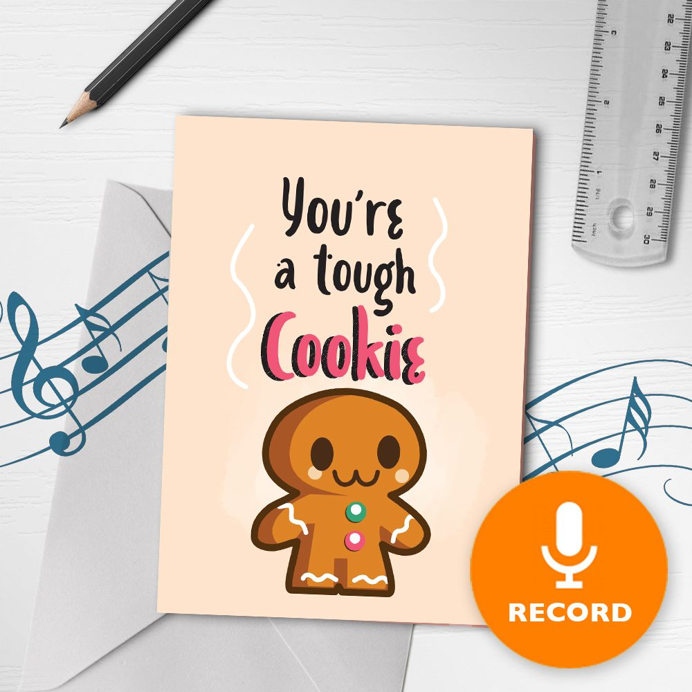 Tough Cookie Musical Greeting Card Musical Greeting Cards Tough