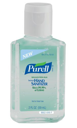 Purell 968224 Instant Hand Sanitizer With Aloe 2 Oz Squeeze Bottle