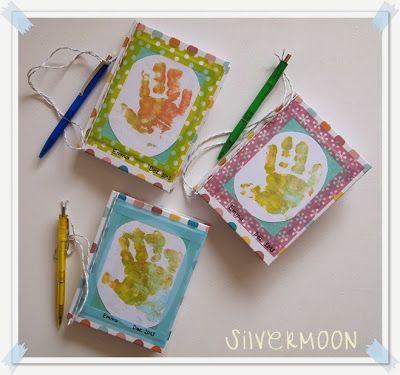 Gotti Und Gotti Geschenk Notizbuch Mit Handabdruck Diy Crafts
