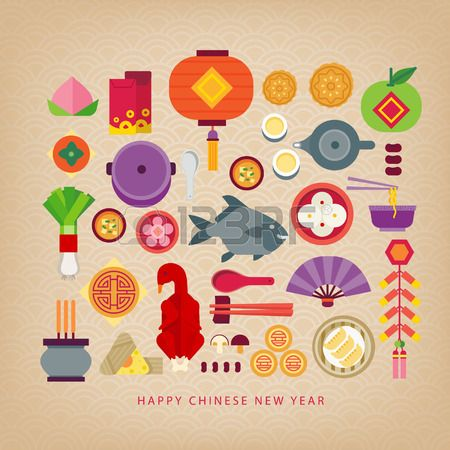 Chinese New Year Celebration Foods Of Chinese New Year Chinese New Year Chinese Patterns Chinese New Year Eve
