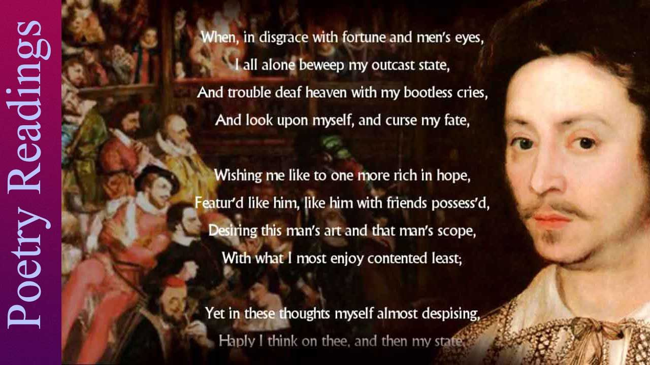 Listen To A Reading Of Shakespeare S Sonnet 29 With Background Information And Analysi Theme The Good Morrow By John Donne