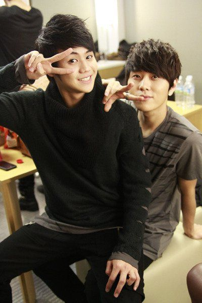 My biases yoseob and junhyung. Adorableness overload!