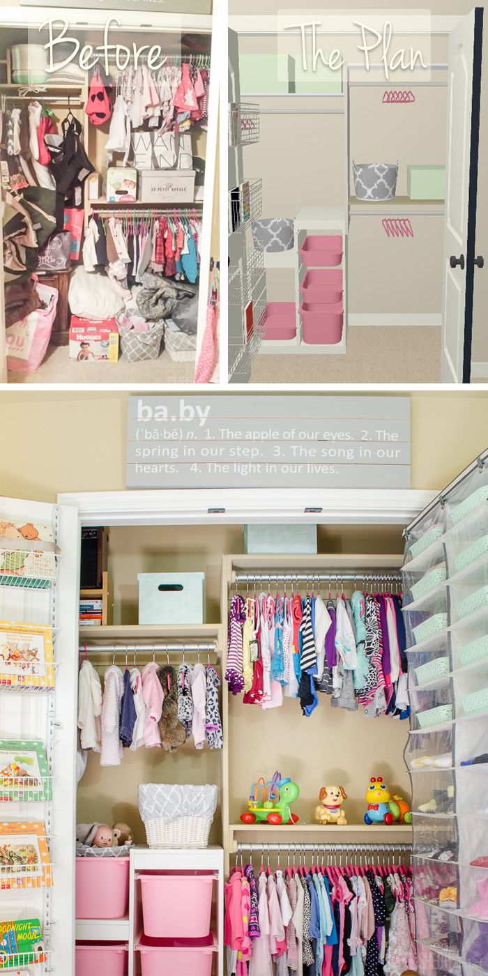 Kid organization Reach In Closet Organization for
