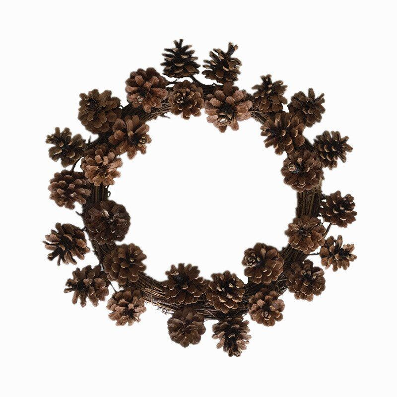 New Christmas Wreath Pinecone Wreath Door Lintel Pendant Living Room Dining Room Decoration P #wreaths #for #living #room