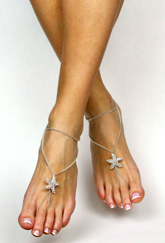 0e2937382b2e0 ... New to BareSandals on Etsy Starfish Barefoot Sandals Beach Wedding  Sandals Rhinestone Starfish Rhinestone Sandals Foot ...