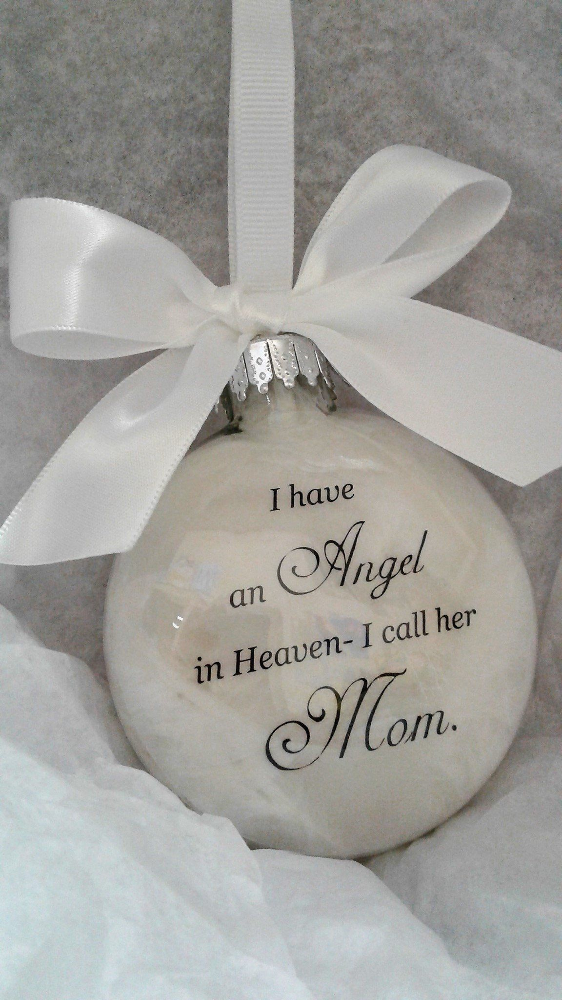 Mother Memorial Ornament Angel In Heaven I Call Her Mom Loss Of Parent In Memory Sympathy Gift Remembrance Bauble Remembering Momma Mama Ornament Kerst Engelen Handgemaakt