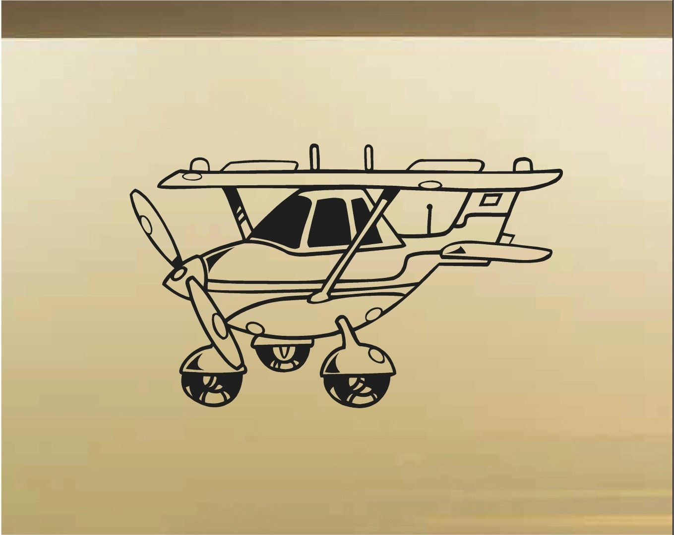 Cessna Plane Car Wall Decal - Auto Wall Mural - Vinyl Stickers ...