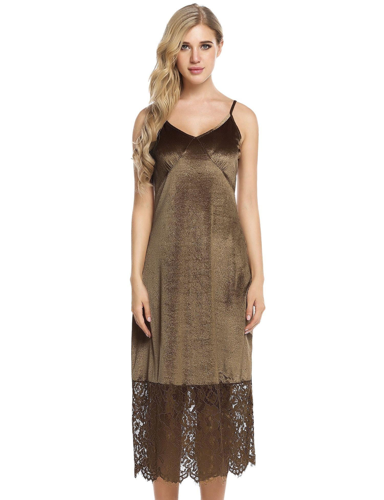 df5574685659 Yellow Spaghetti Straps Lace Hem Design Patchwork Dress