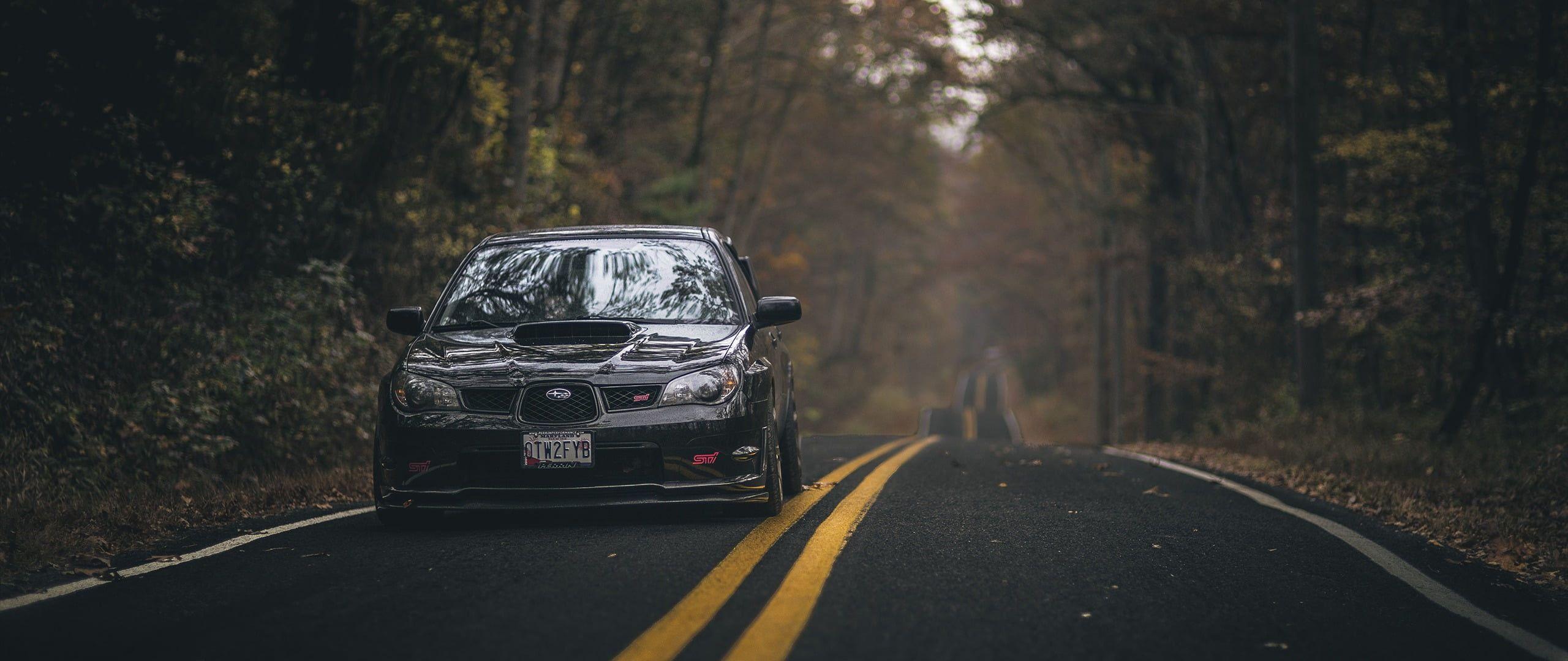 Black Ford Mustang Ultra Wide Car Subaru Impreza Rally 2k Wallpaper Hdwallpaper Desktop Subaru Impreza Impreza Subaru Hd wallpaper subaru black car road