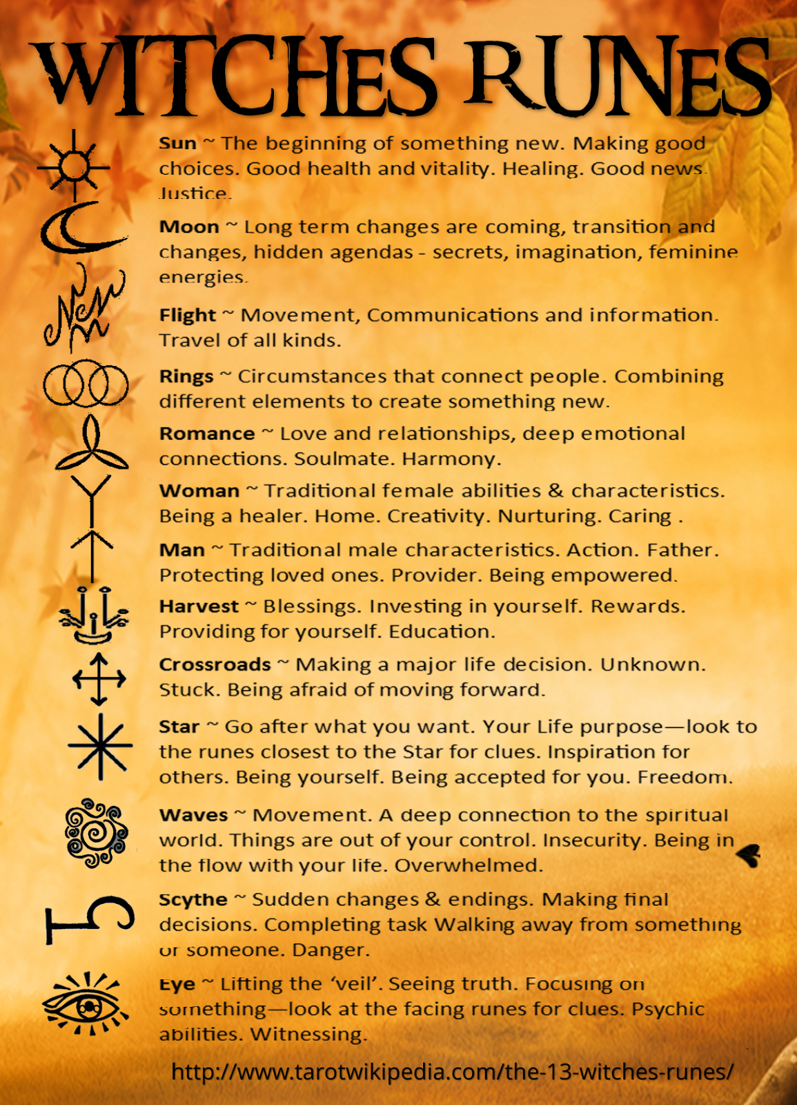 You Can Cast The 13 Witches Runes On A Piece Of Cloth Reading The