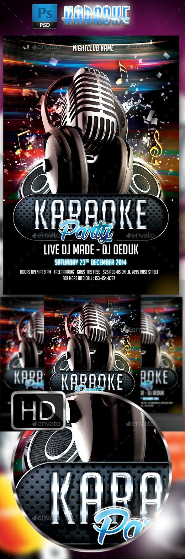 Karaoke Flyer 3 Pinterest Karaoke Flyer Template And Template