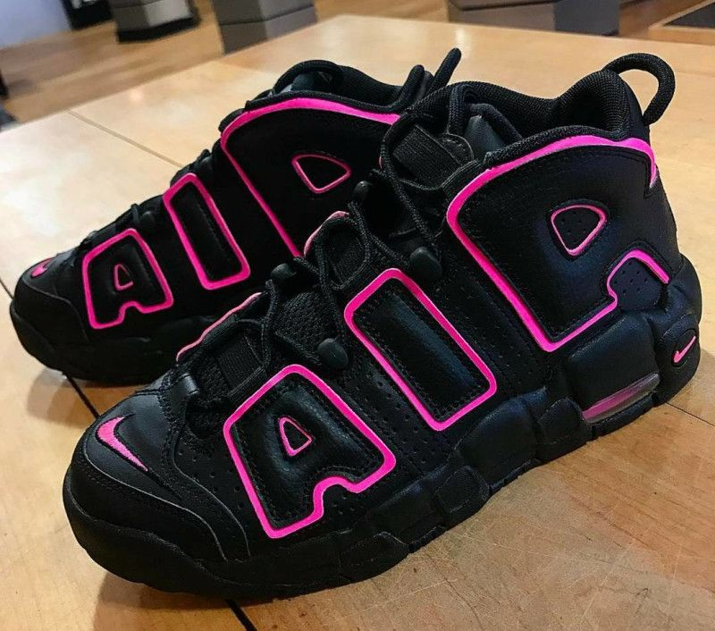 340422fd73426 Nike Air More Uptempo GS Black Pink Blast