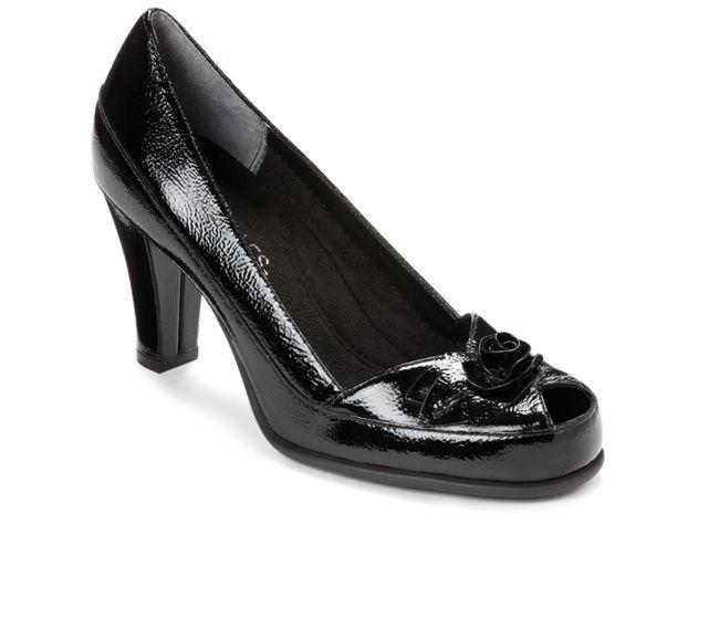 Aerosoles Bengal Rose Peep Toe Shoes 3 Inch Heel Most