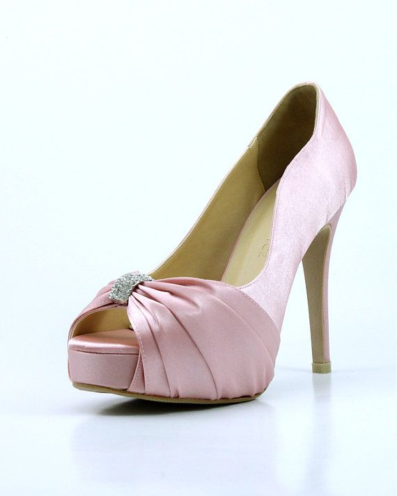 0fccb860687 Sweet Pink Wedding Shoes with Rhinestones Pastel by ammiejoyce