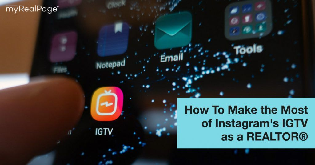 How To Make The Most Of Instagram S Igtv As A Realtor Igtv Realestatemarketingtips Instagramforre In 2020 Image Editing Apps Instagram Content Calendar Instagram