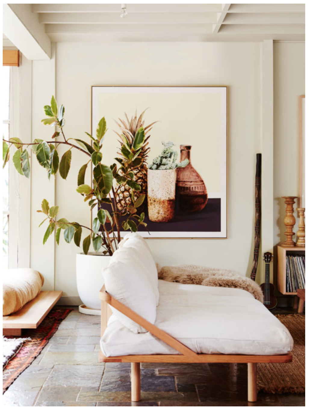 bohemian sofa bed dual reclining rv achieve a modern living space with indoor plants wood and natural textiles
