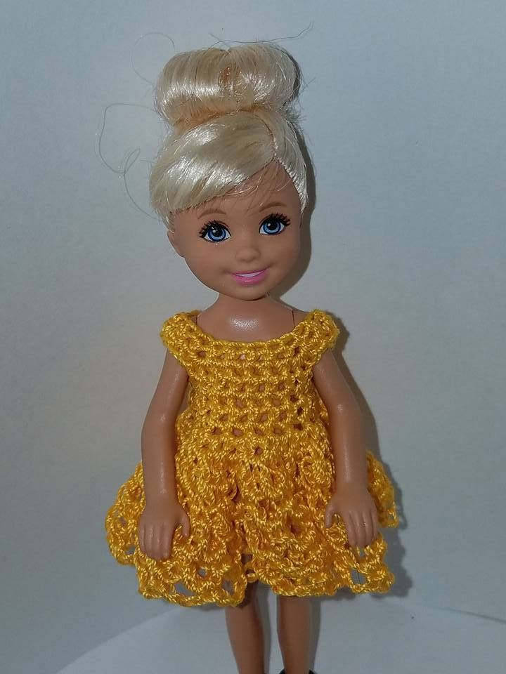 Hand crocheted Chelsea//Kelly Mattel doll clothes