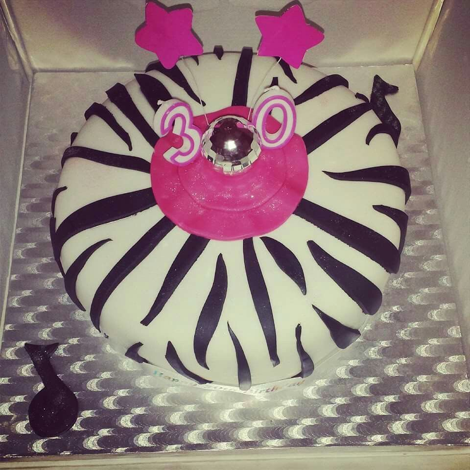 30th birthday zebra print | My Cakes | Pinterest