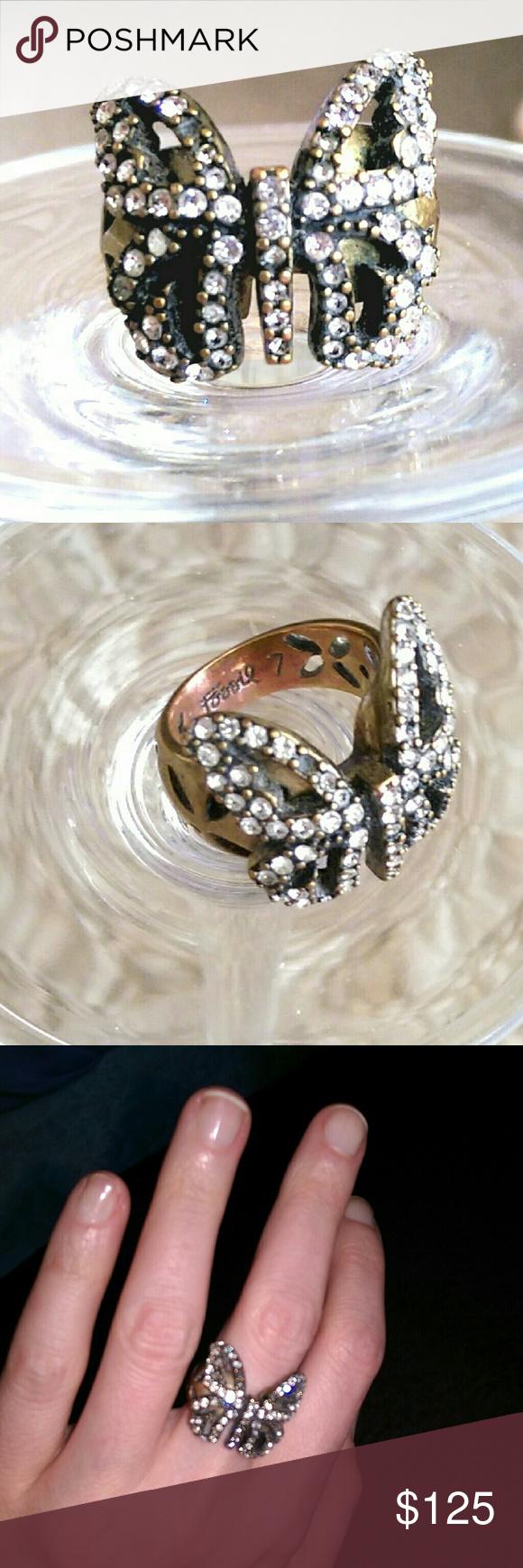 BDAY SALE {Fossil} signed vintage ring Vintage rings