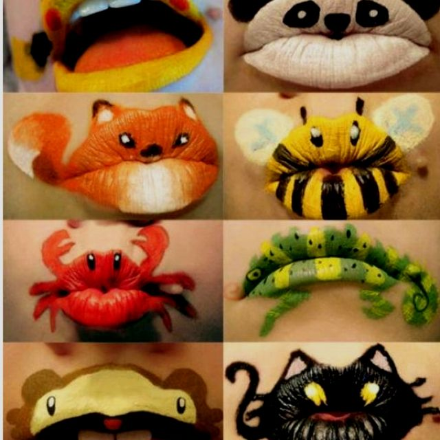 Fun with make up and lip animals ;)