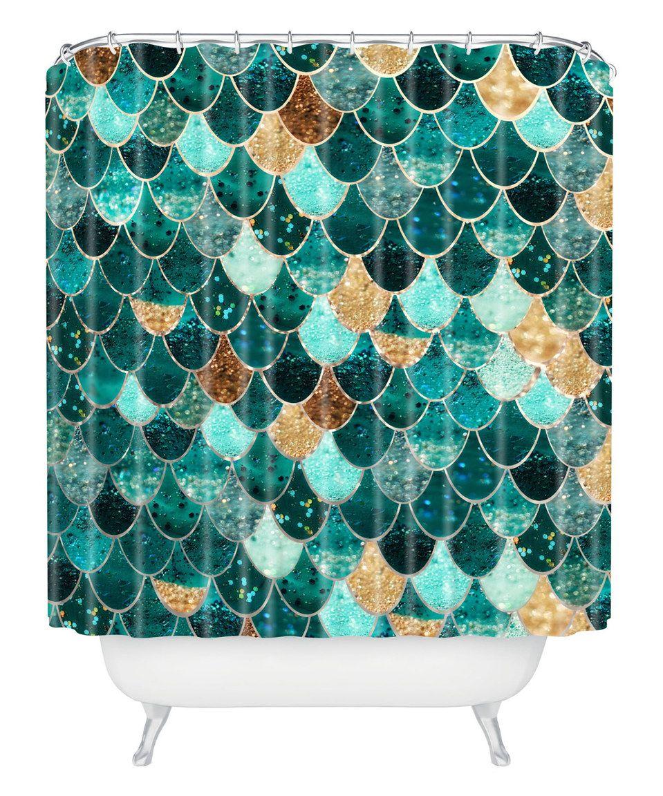 Deny designs monika strigel really mermaid shower curtain mermaids