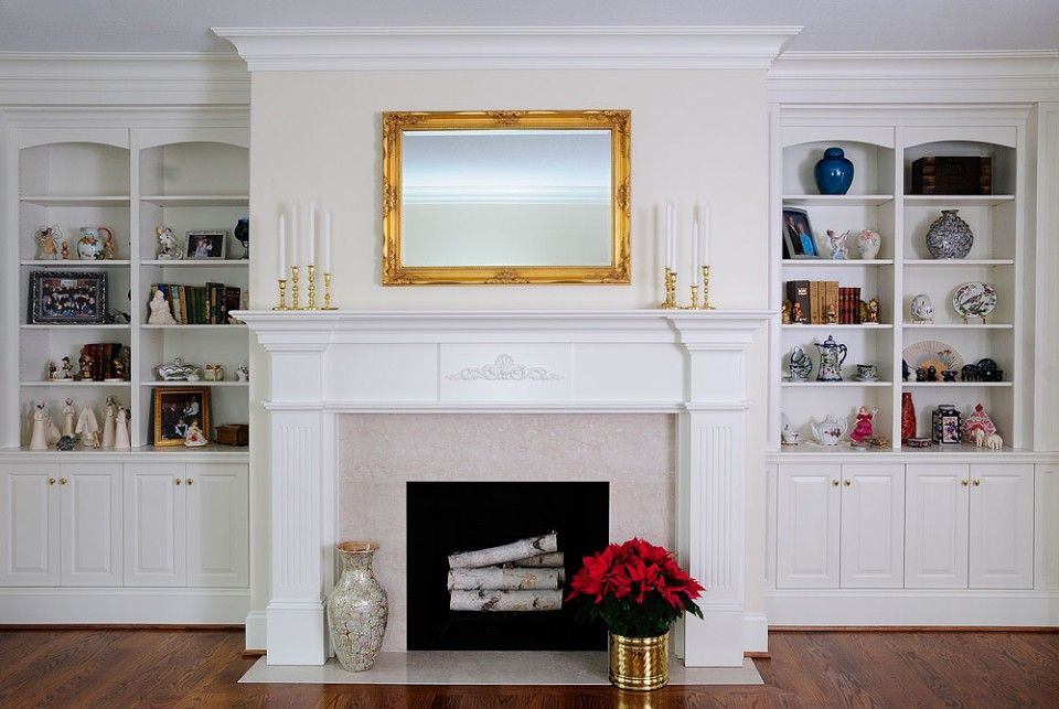 HighEnd White Custom Cabinetry By Ken Leech Todd Bookcase And - Fireplace with bookshelves