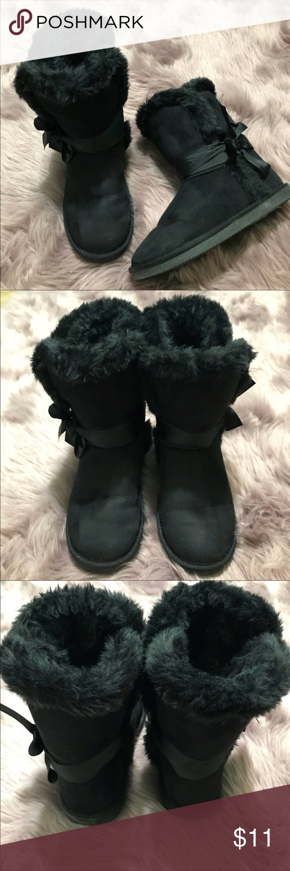 Black Suede Winter Boots 🔴 Reasonable offers always welcome. JustFab Shoes Winter & Rain Boots