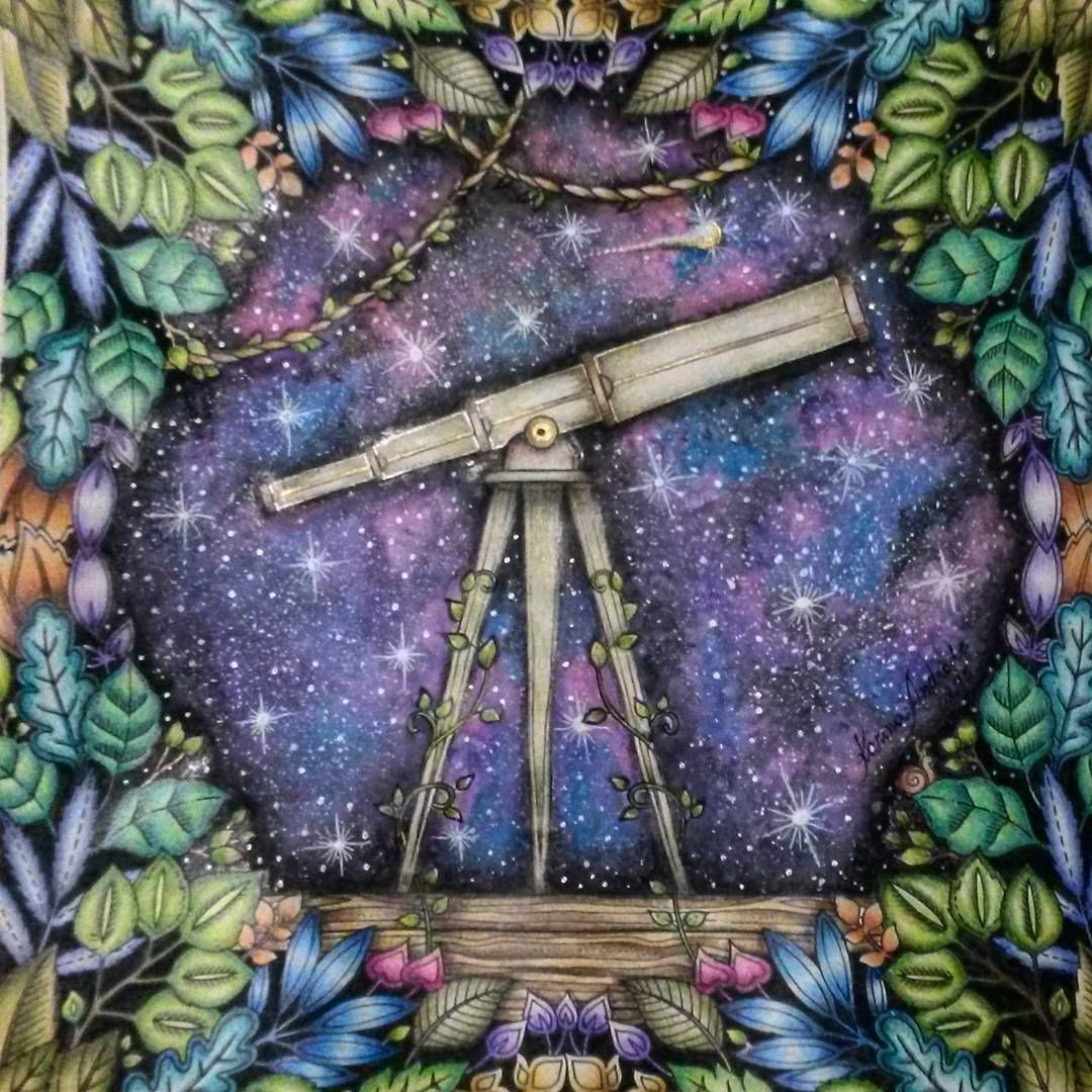 Telescope Enchanted Forest Colouring