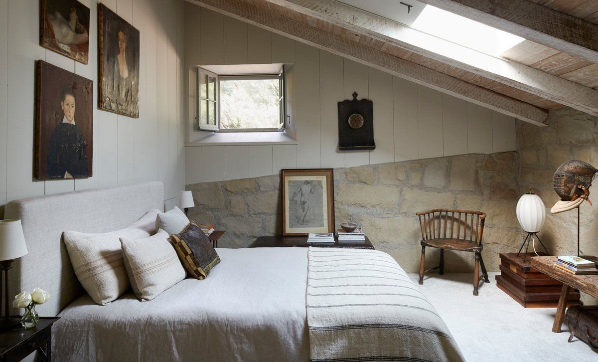 farmhouse bedroom in santa barbara ca by matt blacke inc